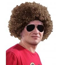 Perruque afro/clown marron standard adulte