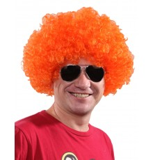 Perruque afro/clown orange standard adulte