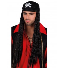 Perruque bandana pirate adulte