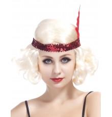 Perruque blonde charleston femme
