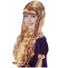Perruque blonde médiévale femme