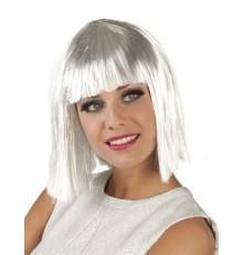 Perruque courte blanche femme