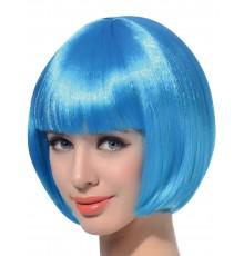 Perruque courte bleu aqua femme