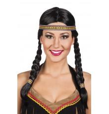 Perruque indienne tressée femme