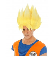 Perruque jaune Goku Saiyan Dragon ball Z adulte
