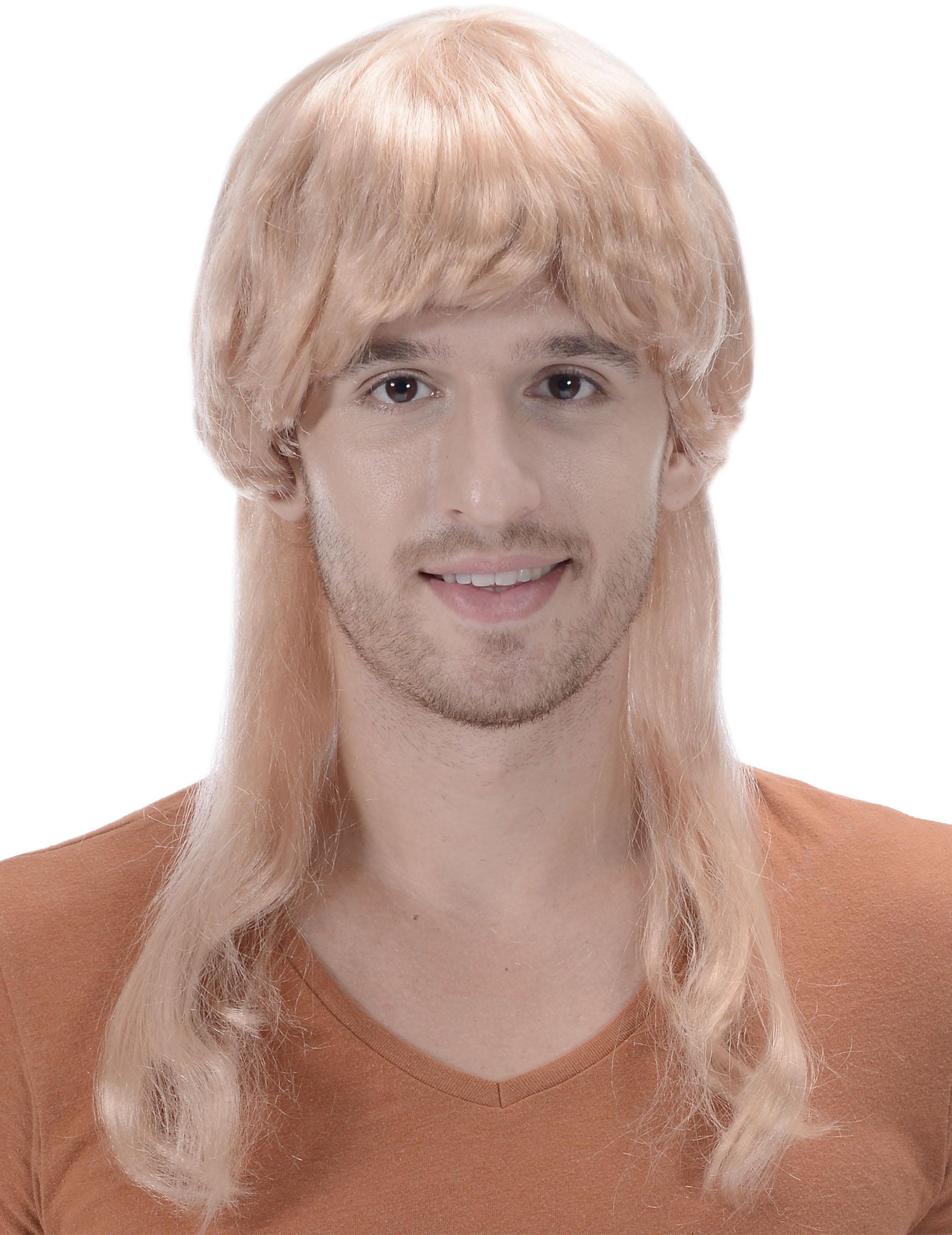 Perruque mulet blonde à frange homme