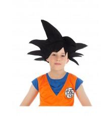 Perruque noire Goku Saiyan Dragon ball Z enfant