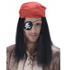 Perruque pirate avec bandana adulte