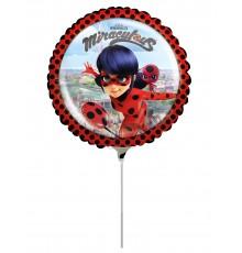 Petit ballon aluminium Ladybug 23 cm