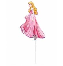 Petit ballon aluminium Princesse Aurore 22 X 33 cm