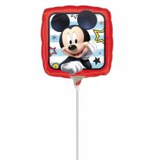 Petit ballon carré aluminium Mickey 23 x 23 cm
