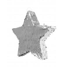 Pinata étoile argentée 45 x 12 cm