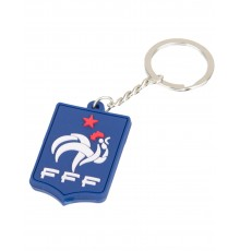 Porte clés silicone bleu France FFF