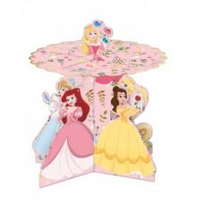 Présentoir à cupcakes en carton premium Princesses Disney