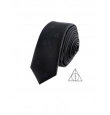Réplique cravate deluxe avec pin's Les Reliques de la Mort Harry Potter