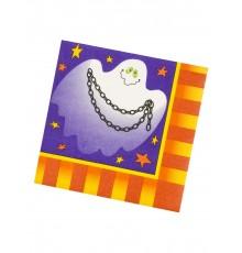 Serviettes en papier pour Halloween 33x33cm