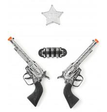 Set de 2 pistolets en plastique enfant