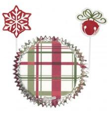 Set moules à cupcakes en papier et pics de décoration