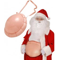 Ventre gonflable de bossu femme enceinte Père Noël adulte