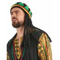 Bonnet rasta velours avec dreadlocks adulte
