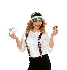 Bretelles joueur de poker adulte