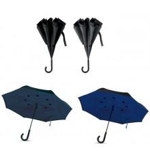 """Parapluie 23"""" à fermeture réversible en 4 couleurs différences"""