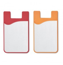 Porte-cartes en silicone pour sublimation de couleur rouge et orange