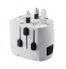 Adaptateur de voyage universel Pro Light USB 3 pôles