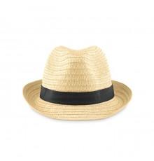 Chapeau de paille avec bande colorée