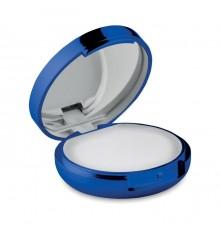 Baume à lèvres dans un boitier brillant avec miroir