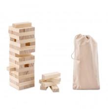 Tour en bois avec 54 blocs