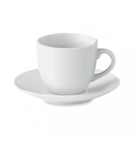Tasse et soucoupe expresso en porcelaine