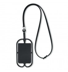 Lanyard avec Support en Silicone pour Smartphone