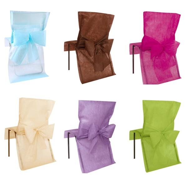 Lot de 10 Housses de chaise Premium 50 x 95 cm