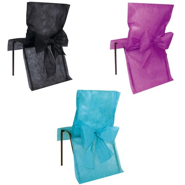 Paquet de 10 housses de chaise premium
