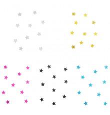10 Mini-miroirs en Forme d'Étoile en Coloris Divers