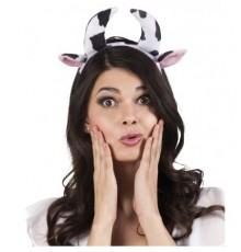 serre-tête de vache noir et blanc