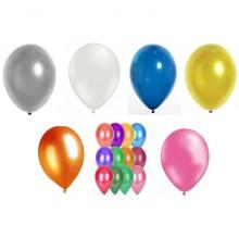 Lot de 100 ballons avec effet métallisé 29 cm