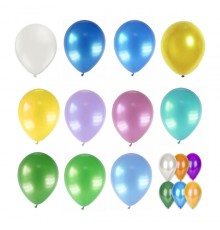 Lot de 12 Ballons Métallisés Biodégradable 28 cm