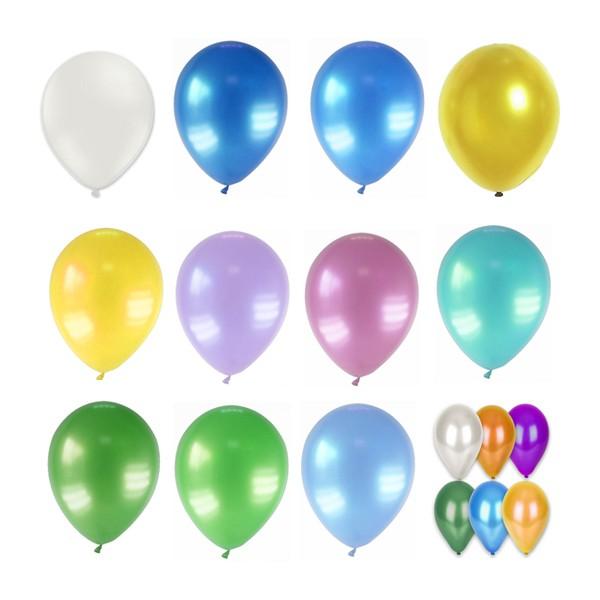Lot de 12 Ballons Métallisés Biodégradable 28 cm