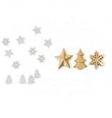 Paquet de 12 pièces de Décorations de table Noël 2,5 cm