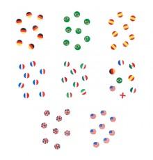 Sachet de 150 Confettis de Table Drapeau Pays