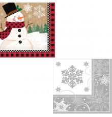 Pack de 16 Serviettes en papier motif Noël 33 x 33 cm