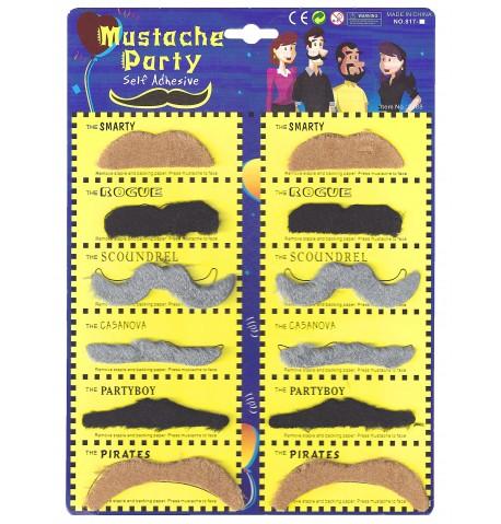 Fausse moustache adhésive MIX