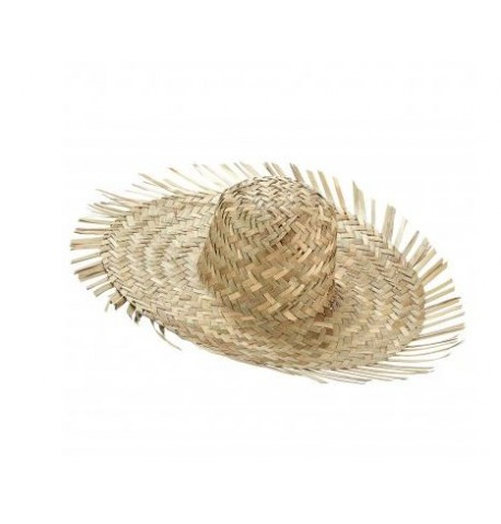 Chapeau de paille exotique des îles