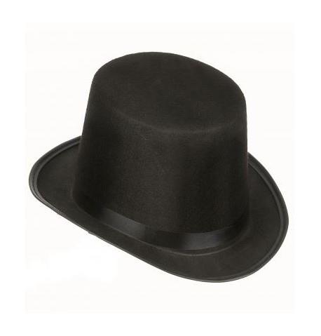 chapeau haut de forme noir 15cm