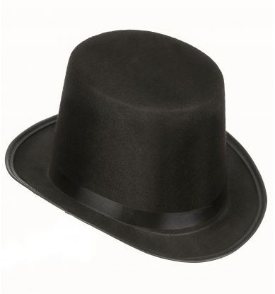 Chapeau Haut de Forme de Couleur Noir