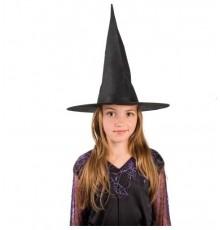 Chapeau noir de sorcière pour enfant 30cm