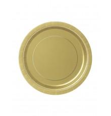 Pack de 20 assiettes avec motif rond au centre 18 cm