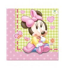 Sachet de 20 serviettes motif Minnie 33 x 33 cm